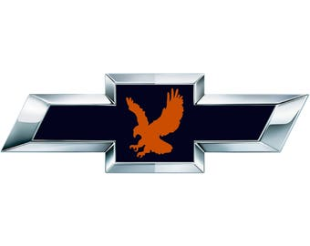 2 Auburn Eagle Vinyl Sheets for Chevy Emblem Overlay Decal