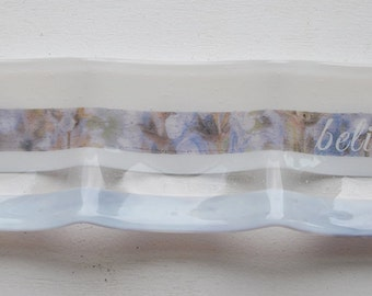 Believe 3-part Fused Glass Dish