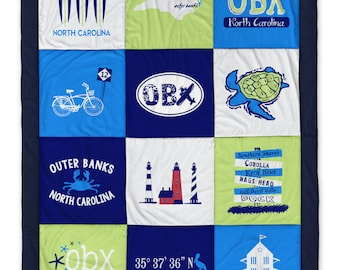 Outer Banks OBX 2 Navy Destination Blanket
