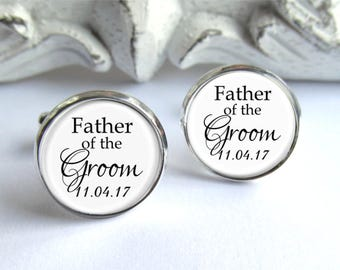 Father Of The Groom Gift, Personalized Cufflinks, Wedding Cufflinks
