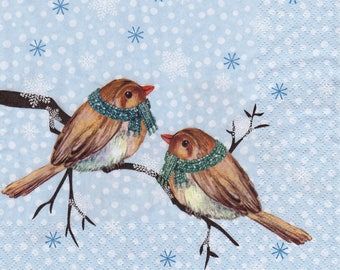 "Winter napkin ""bird scarves"""