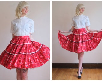 1960s Skirt // Twirl Your Partner Circle Skirt // vintage 60s skirt