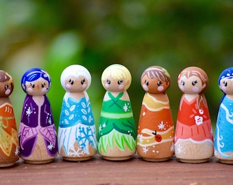 Tiny Fairy Peg Dolls, Tinkerbell and Friends, Tinker Bell Toys, Tinkerbell Peg Doll, Fairy Princess Toys,