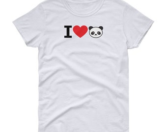 I Love Pandas - Super Cute Panda Shirt for Women and Girls - Panda Tshirt for All Panda Lovers