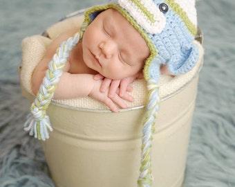 Crochet Sock Monkey Hat - Baby Sock Monkey - Newborn Photo Prop - Baby Boy Hat - Newborn Monkey Hat - Crochet Baby Hat - Baby Shower Gift
