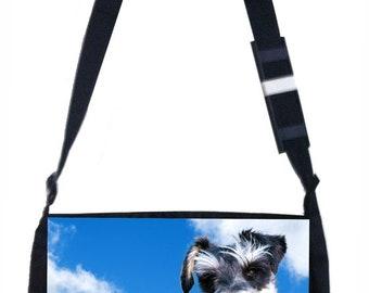 Miniature Schnauzer Dog Black School Shoulder Messenger Bag