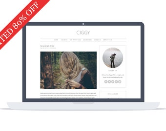 80% - Ciggy - Wordpress Theme - Premade - Self Hosted - Wordpress Blog Theme - Responsive