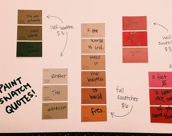 Paint Swatch Quotes (MTO)