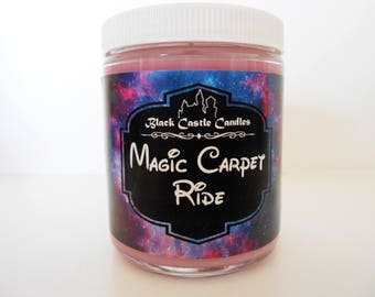 Magic Carpet Ride - Aladdin Inspired - Disney - Black Castle Candles - Soy-blend Wax - 8 oz Container