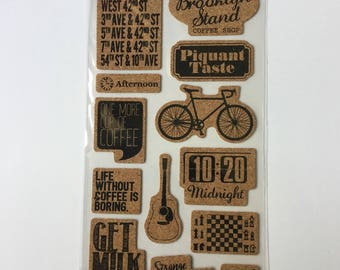 Scrapbooking embellishments Cork USA, vintage, holiday stickers