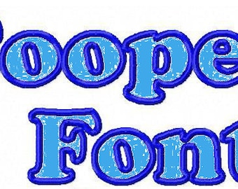 Machine Embroidery Design -Cooper Font Applique -Three Sizes- Instant Download