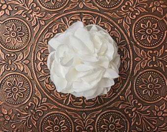 Bridal Hair Accessory, Wedding Hair flower,Bridesmaid Hair Accessory,Boho Hairpiece, Bridal Hair Flower,YOUR CHOICE COLOR, Chiffon Hair Clip