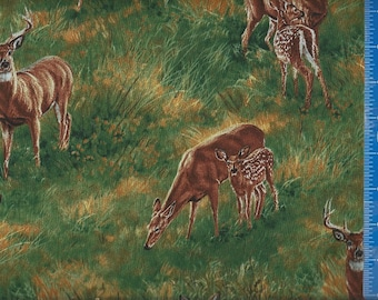Deer Scene Wild Wing Fabric Quilting Crafting Home Decor