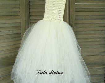 Ivory tulle princess dress, size 4t