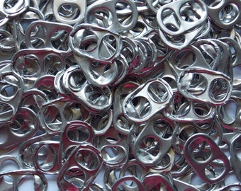 100 pull tabs for craft making - ready to ship