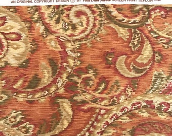 REMNANT FABRIC: Mill Creek Rust and Gold Swirl Fabric, REM-111