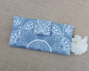 Mandala Wallet, Womens Wallet, Fabric Wallet, Women's Bifold Wallet,