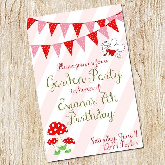 Garden party invitation birthday party invitation digital stopboris Gallery