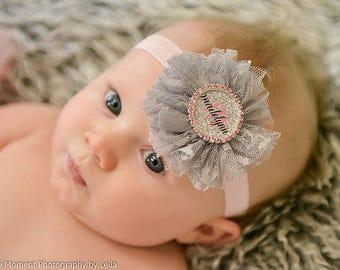 Personalized Baby Bow - Baby Name Headband - Personalized Baby Headband - Infant Headbands - Baby Headbands - Newborn Headband - Baby Shower