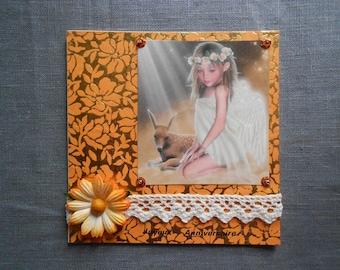 Beautiful birthday card of an Angel for girl.