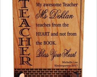 Pre-K - Kindergarten Teacher Gift - Gifts for Teacher Appreciation from Student - Parent - Teacher Gift Ideas - Teacher Plaque, PLT010