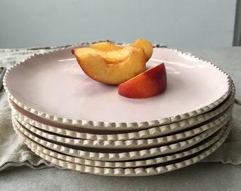 Scalloped Edge Dessert Plates