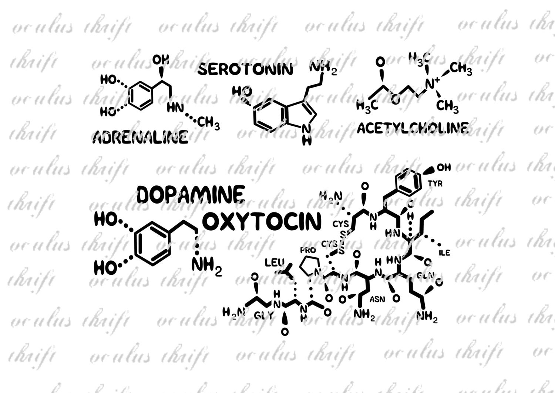 Feelings Molecule Collection SVG Silhouette Cut File
