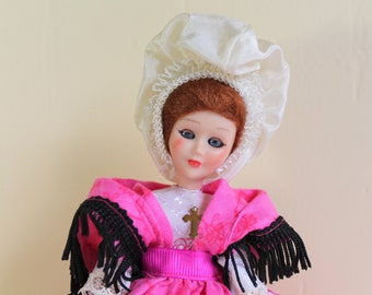 Vintage Sleepy Eyes Doll with Head and Arms Movement, rescued doll