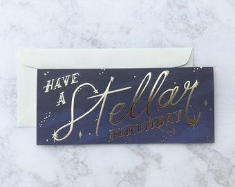 Stellar Birthday Greeting Card
