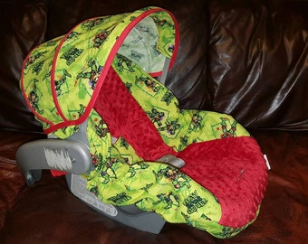 Ready to Ship TMNT Car seat cover, ninja turtles Car seat cover, Carseat Slip Cover, Baby Gift, Car seat Cover, Custom Carseat