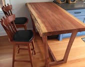 Redwood Kitchen Island Ta...