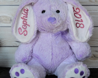 Handmade easter gift for boys etsy personalized stuffed animal large bunny easter bunny kids birthday gift plush negle Gallery