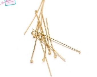 100 pin 45 mm head flat earring, gold