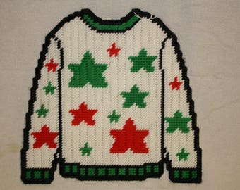 Star ugly sweater wall hanging