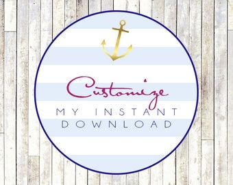 Customize Any Instant Download