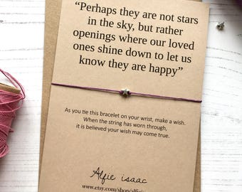 Wish Bracelet - Perhaps they are not stars in the sky ...
