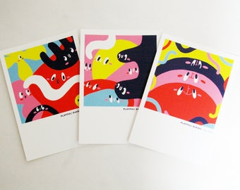 PLAYFUL! Character Postcard 3 Pack
