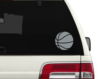 Basketball decal- Basketball- Basketball vinyl decal- Sports- Sports decal- Vinyl decal- Basketball mom decal- Basketball decor
