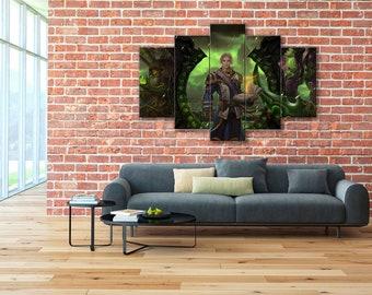 World of Warcraft, Anduin Wrynn, Illidan, Thrall, WoW, World of Warcraft canvas, Anduin canvas, Illidan canvas, Thrall canvas, WoW canvas