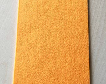 Coupon of Tangerine thick wool felt 3 mm