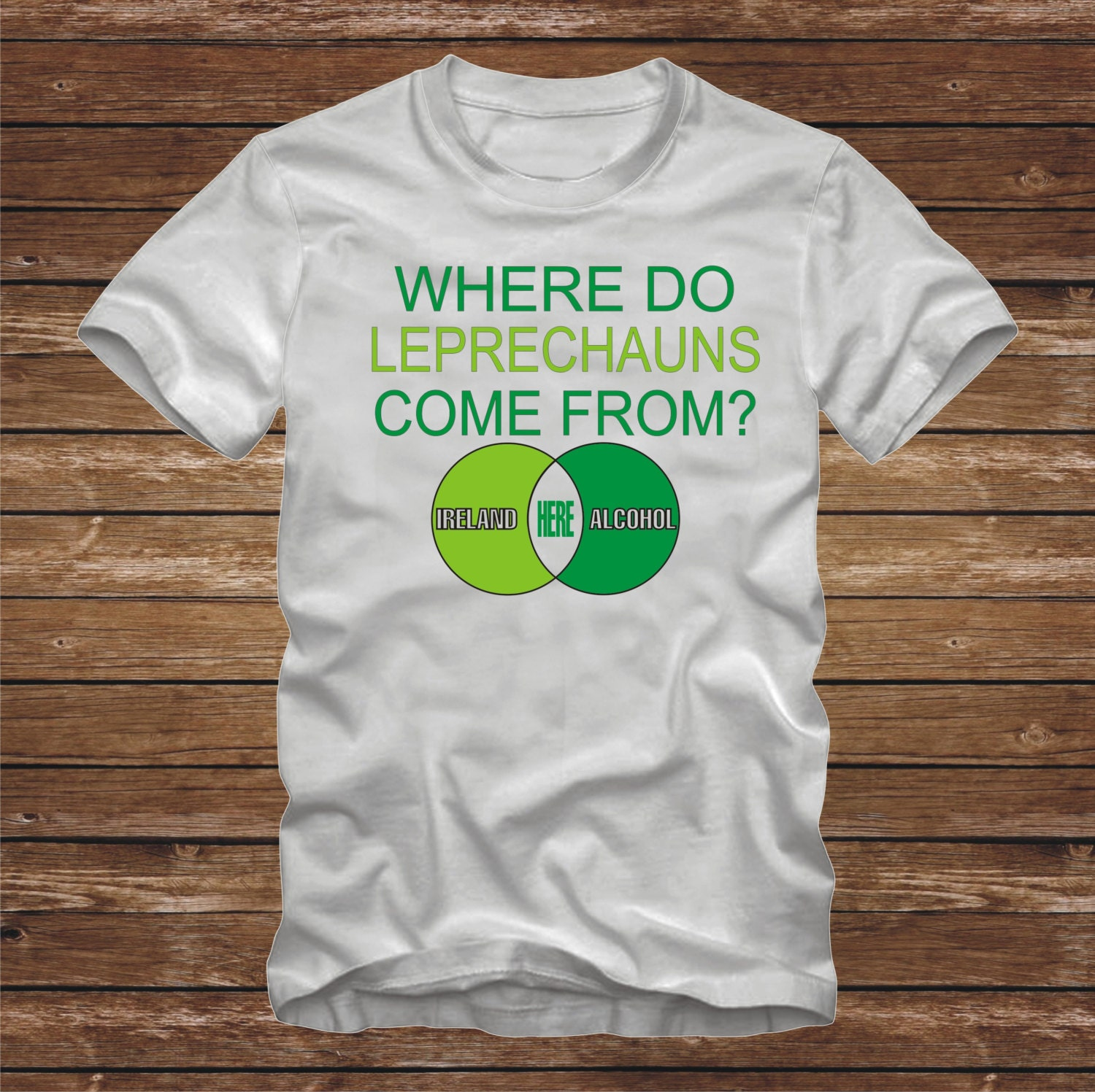 Where do leprechauns come from t shirt adult sizes venn zoom pooptronica