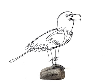 Eagle Wire Sculpture, Bird Wire Art, Minimal Art Design, 584238562