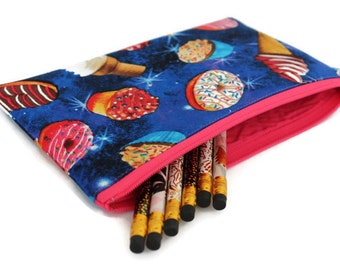 Pencil Pouch - Makeup Bag - Zipper Pouch - Cosmetic Bag - Zipper Clutch - Pencil Bag - Pencil Case - Gadget Bag in Deserts in Space