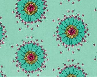Mod Corsage by Anna Maria Horner for Free Spirit - Centered - Seafoam - Aqua - 1/2 yard Cotton Quilt Fabric 916