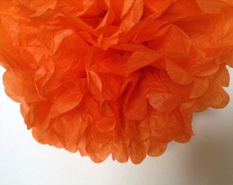 Orange-DIY Tissue Paper- PomPom- Poms
