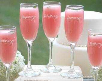 14 Bridesmaid Gifts, Engraved Champagne Flutes, Wedding Party, Champagne Glasses, Asking Bridesmaids, Champagne Toast, Bridal Party Gift