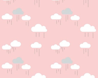 When Skies are Grey - Pink Clouds by Riley Blake 112 x 25cm