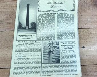 Thurber TX- Vintage Thurber Smokestack Restaurant menu