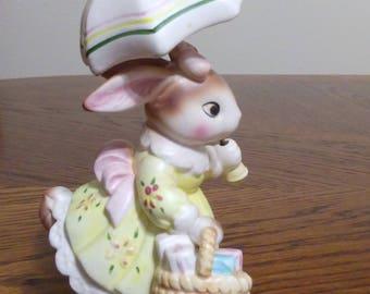 Cute Bunny 'Come Rain or Shine' wth Umbrella - Cherished Moments