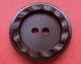 10 buttons 20mm dark brown (4668) button
